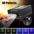 48 лазерный узор пульт дистанционного управления проектор/звук активированный Светодиодный светильник диско RGB DJ сценический вечерние свет...