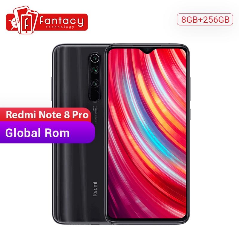Global ROM Xiaomi Redmi Note 8 Pro 8GB 256GB 64 MP Quad Cameras MTK Helio G90T 6.53'' FHD+ Display 4500mAh Smartphone 18W QC 3.0