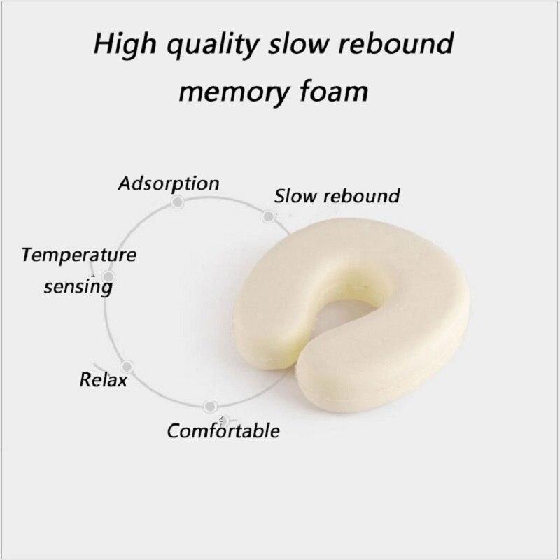 U Shaped Slow Rebound Memory Foam Soild Neck Pillow Soft Car Flight Office Neck Rest Support Airplane Travel Head Rest Pillow in Travel Pillows from Home Garden