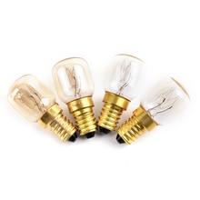 Hot Sale 220v-240v High Temperature 15W / 25W / 300 Degree SES E14 OVEN Toaster/ Steam LIGHT BULBS / COOKER HOOD LAMPS