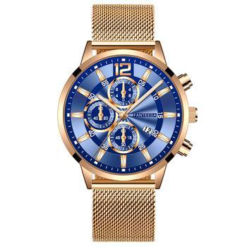 Relogio Masculino Men's Fashion 2020 Casual Calendar Watches Stainless Steel Mesh Band Watch Men Business Quartz Wrist Watch цена 2017