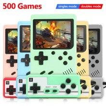 ALLOYSEED-وحدة تحكم ألعاب فيديو ريترو للأطفال ، وحدة تحكم صغيرة محمولة للجيب ، آلة ، هدية للأطفال ، مشغل حنين ، 500 لعبة