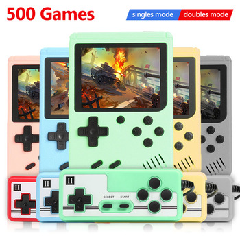 ALLOYSEED 500 Games Retro Video Game Console Portable Pocket Mini Handheld Player Machine Gifts For Kids Nostalgic