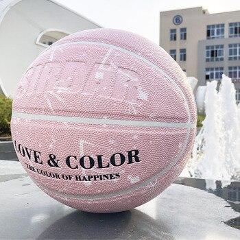 SIRDAR женский баскетбольный мяч из искусственной кожи размер 7 тренировочный баскетбольный розовый баскетбольный подарок для девочки баскет...