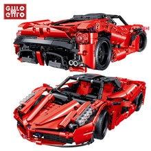 1580 Uds ciudad velocidad Racer Super deportes de competición Vehículo de bloques de construcción coche ladrillos juguetes artesanales para niños de cumpleaños de los niños regalos