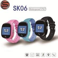 SK06 Anti perte enfant montre GPS Tracker SOS surveillance intelligente positionnement téléphone IP67 étanche HW8 enfants GPS montre PK Q528 Q90