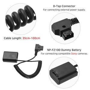 Image 5 - Andoer D Tap zu NP FZ100 DC Koppler Adapter Vollständig Decodiert Dummy Batterie Zubehör für Sony A9 A7R3 A7M3 A7S3 a7III Kameras