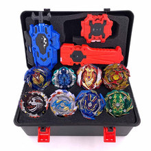 Latest hot Set sale Launchers Beyblade Toupie bursts Metal God Spinning Top Bey Blade Blades Toy(China)
