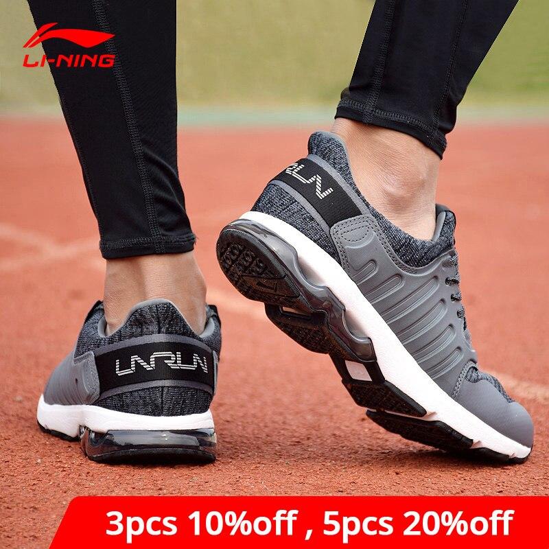 Li-Ning Men BUBBLE ARC Cushion Running Shoes Wearable Anti-Slip LiNing Li Ning Sport Shoes Breathable Sneakers ARHM091 XYP592