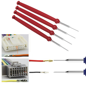Image 4 - New Hot 4pcs Car Plug Terminal Removal Tool Pin Needle Retractor Pick Puller Repair Electrical Remove Wire Puller Hand Tools Kit