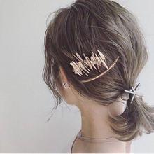 Темпераментная зеркальная Геометрическая заколка для волос многослойная