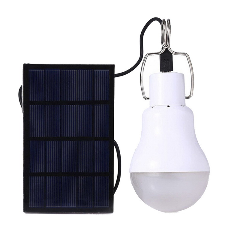 New LED Solar Light Power Energy Solaire Lamba Lamp Waterproof Panel Emergency Bulb Hook Tent Lantern Outdoor Garden