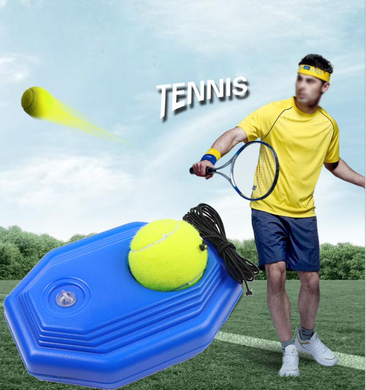 Heavy Duty Tennis Training Aids Tool With Elastic Rope Self-Duty Rebound Trainer Partner Ball Practice Sparring Device Unisex