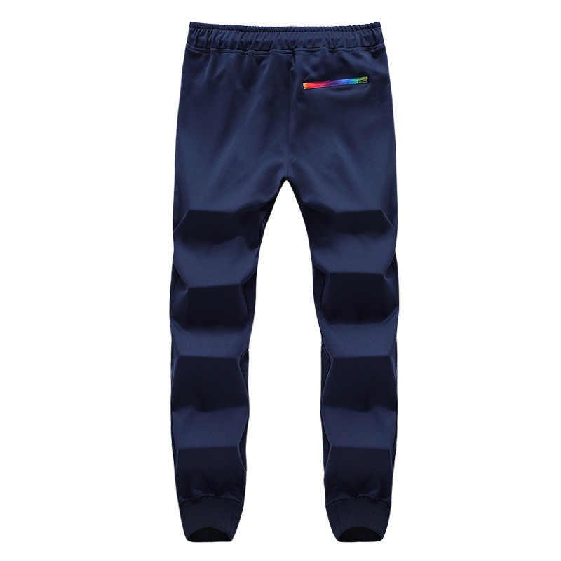 Pantalones a rayas de otoño para hombre, pantalones de chándal informales para hombre, ropa deportiva, pantalones largos, novedad 2020, Pantalones rectos para hombre, ropa de Fitness 5XL