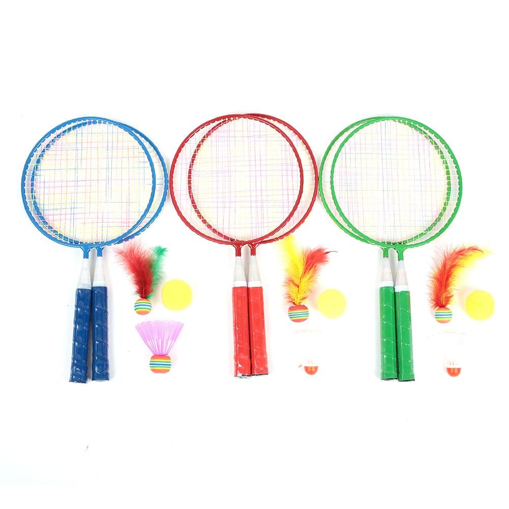 Metal Badminton Racket Child Baby Practical Badminton Set Sports Toys School Random Color Durable Children Badminton Racket