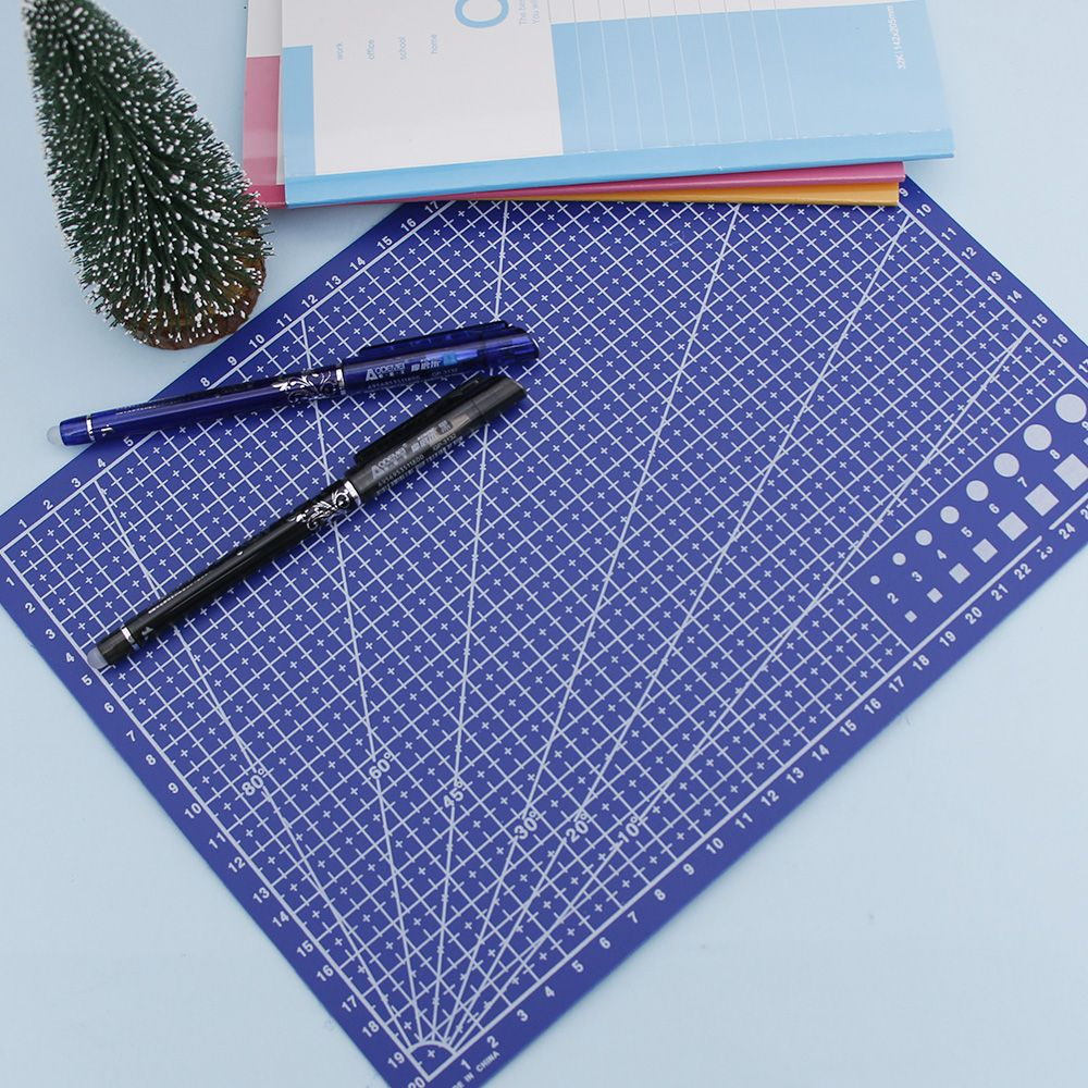 1PCS A4 Grid Lines Cutting Mat Scale Plate Craft Card Fabric Leather Paper Board School Office Supply