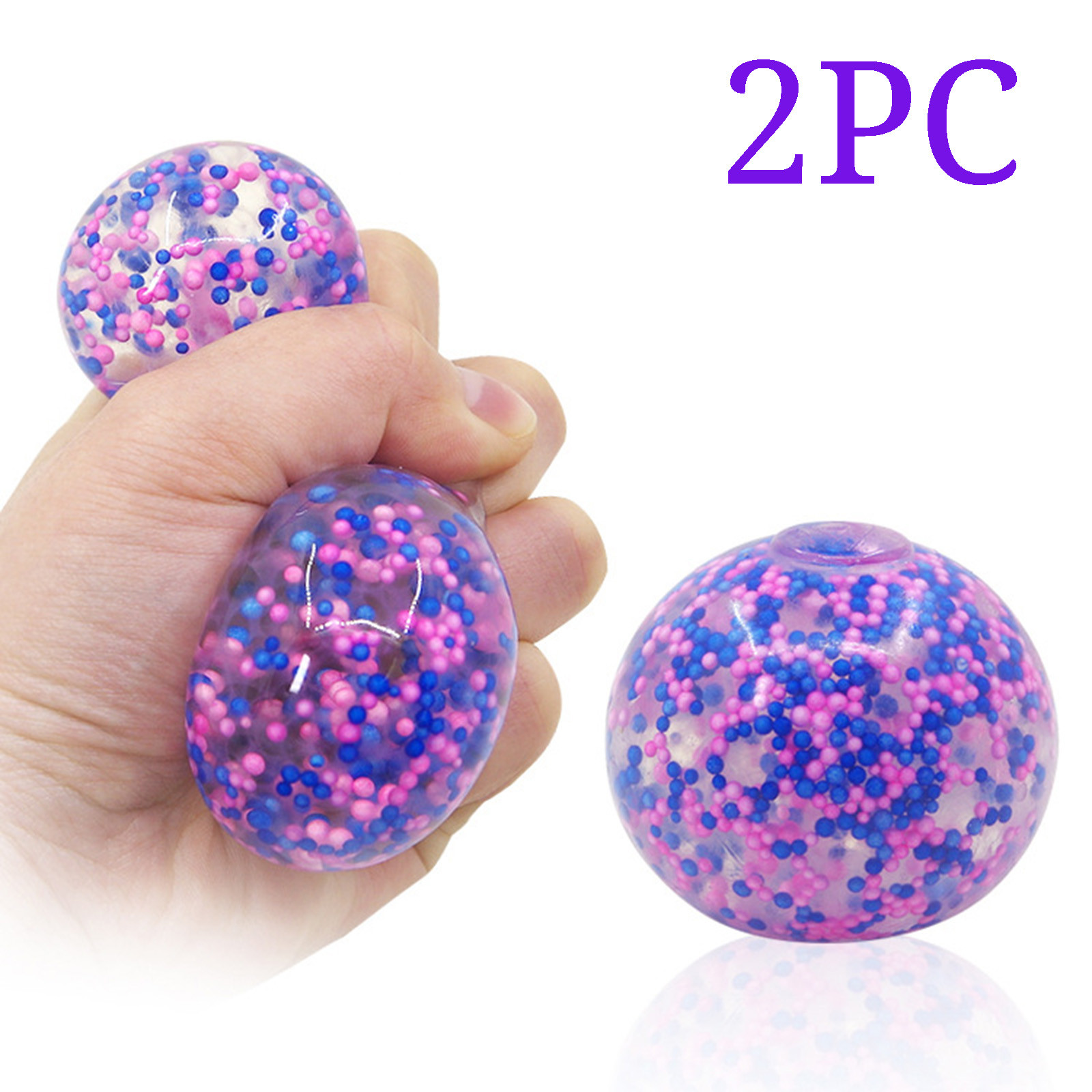 Decompression Dna Color Ball For Kids Adults 1/2pc Stress Relief Balls Exercise Hand img4