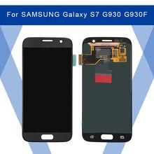 Dành Cho Samsung Galaxy Samsung Galaxy S7 G930 G930F LCD AMOLED Màn Hình Hiển Thị Màn Hình + Cảm Ứng Bộ Số Hóa Cho Samsung Màn Hình Chính Hãng