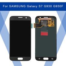 サムスンギャラクシー S7 G930 G930F 液晶 Amoled ディスプレイ画面 + タッチパネルデジタイザーアセンブリサムスンディスプレイオリジナル