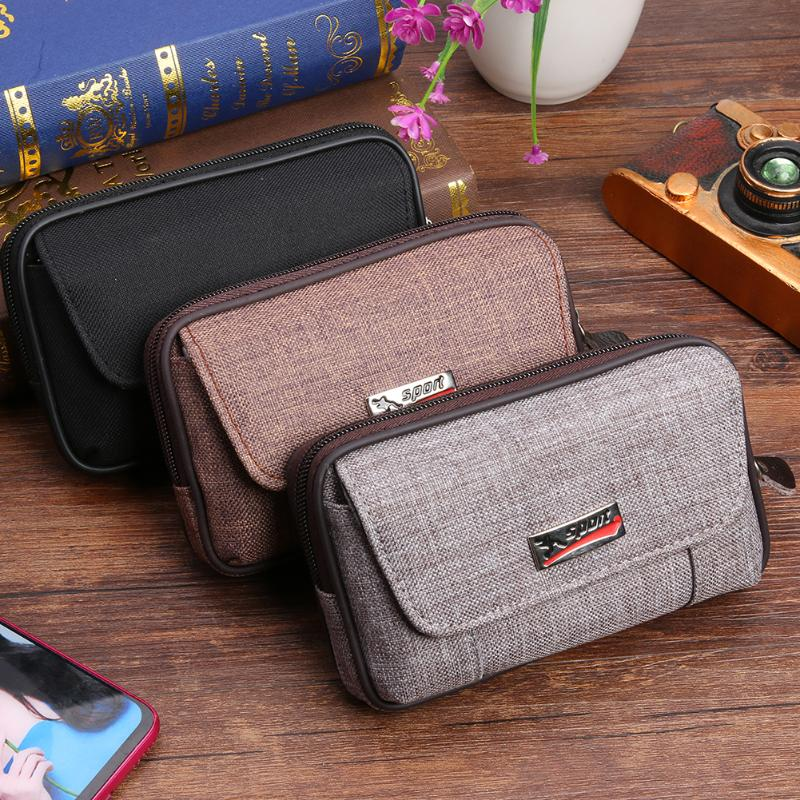 New Waterproof Oxford Cloth Men Wallet PU Leather Outdoor Sports Casual Clutch Card Bag Small Card Holder Zipper Belt Purse