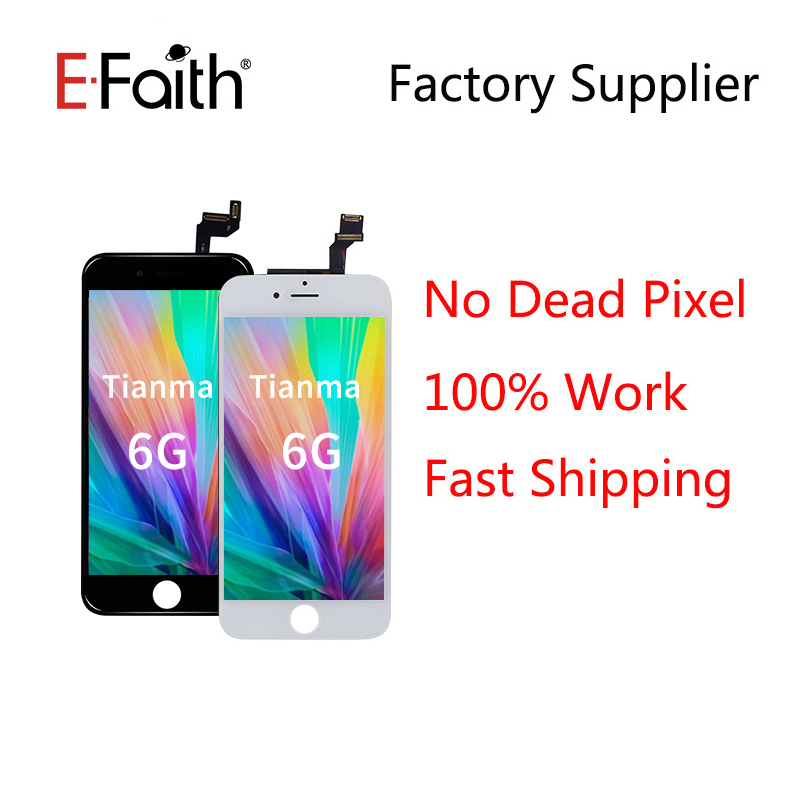EFaith 50PCS LOT Tianma quality display For iPhone 6 LCD NO Dead Pixel For iPhone 6