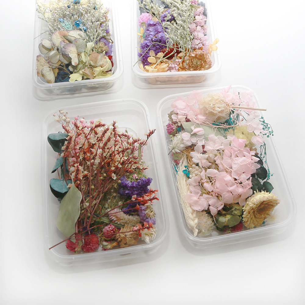 1 Box Real Dried Flower Dry Plants For Aromatherapy Candle Epoxy Resin Pendant Necklace Making Craft Dried Flower DIY Material(China)