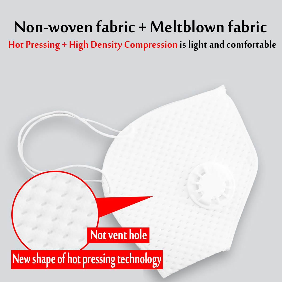 Reusable N95 Mask with Respirator Valve in Thicken Layers Design for Protection from Flu and Virus 6