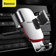Baseus الجاذبية حامل هاتف السيارة 360 دوران الهاتف المحمول حامل Clip حامل قوس CD فتحة جبل حامل آيفون سامسونج