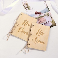 2pcs/Pack Creative His And Her Vow Books Kraft Paper Brown Sturdy Booklet Vow Notebook For Gift Journal Engagement Wedding1