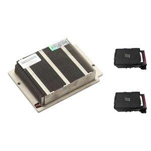 Оригинал для HP DL360 DL360p G8 ЦП Xeon Kit, радиатор 654757-001 и 2 вентилятора 654752-001