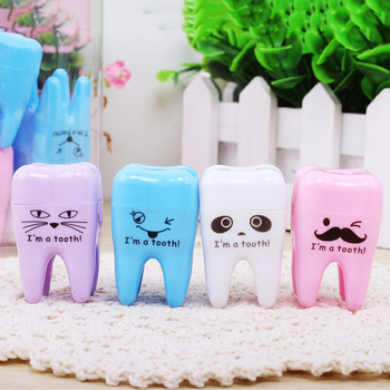 1PCS Lovely Unique Cute Tooth Teeth Pencil Sharpener School Kid's Children Favorite Beautiful Stationary Dental Clinic Gift image