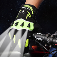 New LED night fishing with lights fishing gloves outdoor fishing lighting repair tools with battery gloves lights