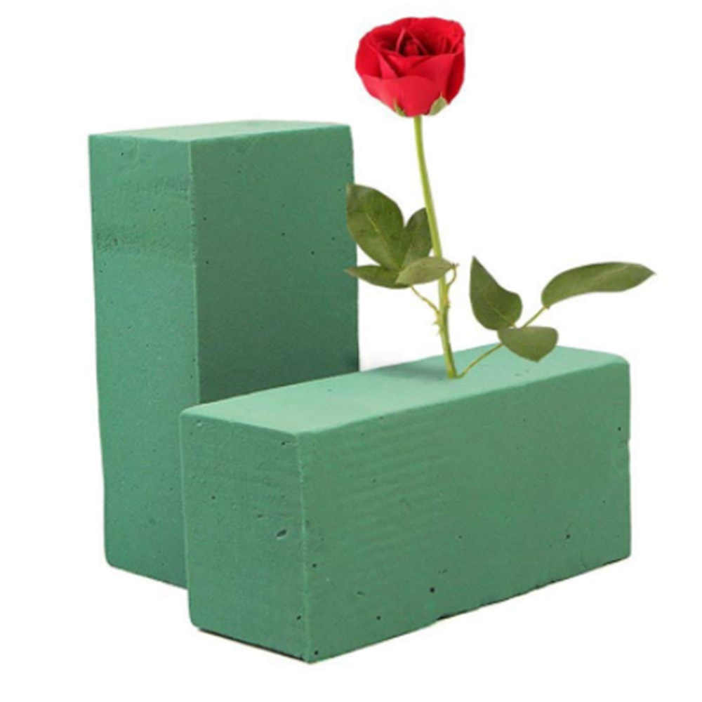 1 PCS Wedding Flower Holder Artificial Flower floral foam Can't Absorb Flower mud Handle Bridal Floral Foam Home Decoration Hot