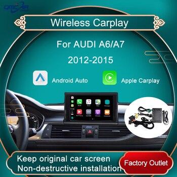 Reproductor Multimedia de coche para Audi A6 A7 2012-2015 inalámbrico Carplay Android espejo interfaz para coche decodificador de espejo