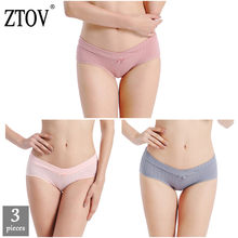 ZTOV 3Pcs/lot Maternity Underwear Panties Low Waist Pregnancy Briefs for Pregnant Women Plus Size Underwear Shorts Clothes XXXL(China)