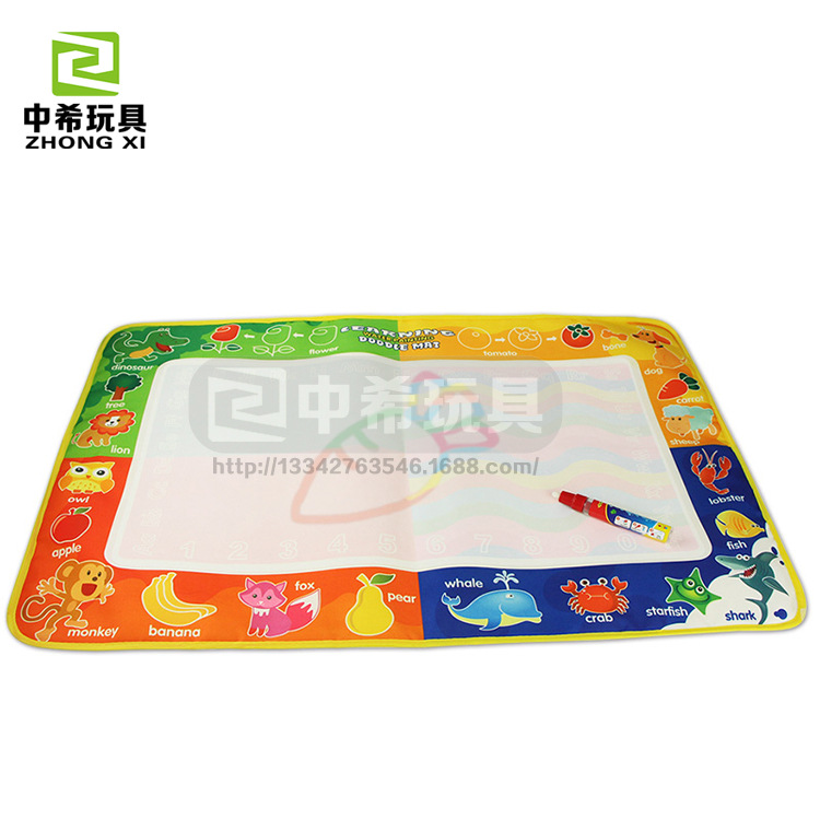 Large Size Magical Magic Canvas Children Painted Doing Homework Learning Graffiti Blanket Drawing Board Water Repeated Use