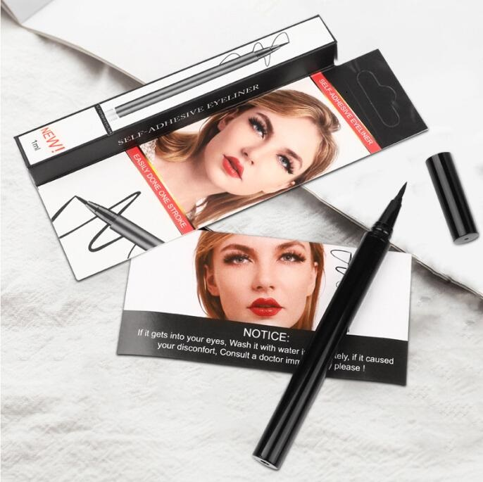 Waterproof Self-adhesive Eyeliner Makeup For False Eyelashes Magnetic Lashes 3 in 1 Fast Dry Easy to Wear 36Pcs/lot DHL Free