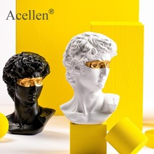 15CM Abstract Sculpture Resin David People Statues for Decoration Statue Home Decoration Accessories Mythology Europe Modern