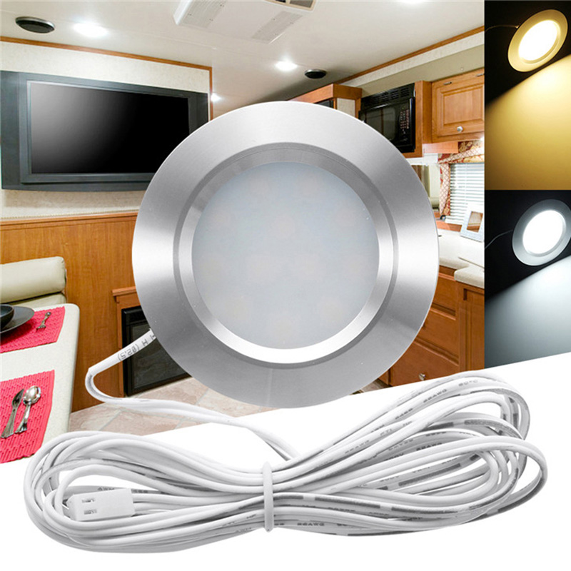 Recessed 12V LED Dome Interior Light Lamps For Camping Travel Boat Can CSV