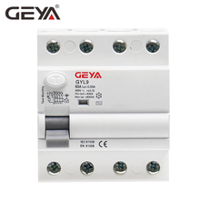 GEYA GYL9 AC Residual Current Circuit Breaker Differential Breaker Safety Switch 4P 40A 63A 100A schneider circuit breaker c120h 4p d63a