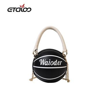 цена на 2020 New Fashion Basketball Shape Purses And Handbags Small Tote Bags For Women Designer Shoulder Crossbody Girls Bags Organizer