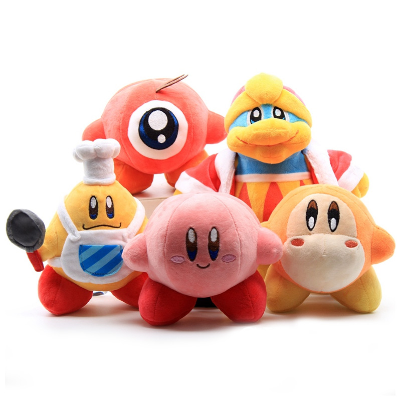 14-26 cm 5 Style Didi King Kirby Soilder Waddle Dee & Waddle Doo Plush Toy Stuffed Dolls for Kids Gift image