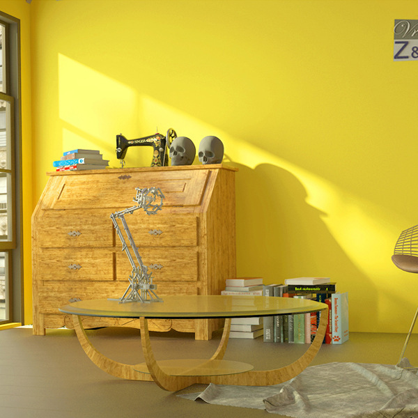 Solid Color Wallpaper Modern Minimalist Environmentally Friendly Nonwoven Fabric Bedroom Lemon Yellow Plain Color Living Room Or