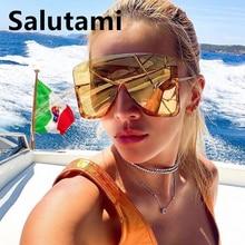 One Piece Oversize Square Shield Women Sunglasses Luxury Bra