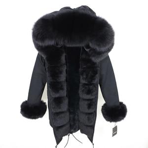 Image 4 - OFTBUY 2020 Fashion Winter Jacket Women Real Fur Coat Natural Real Fox Fur Collar Loose Long Parkas Big Fur Outerwear Detachable