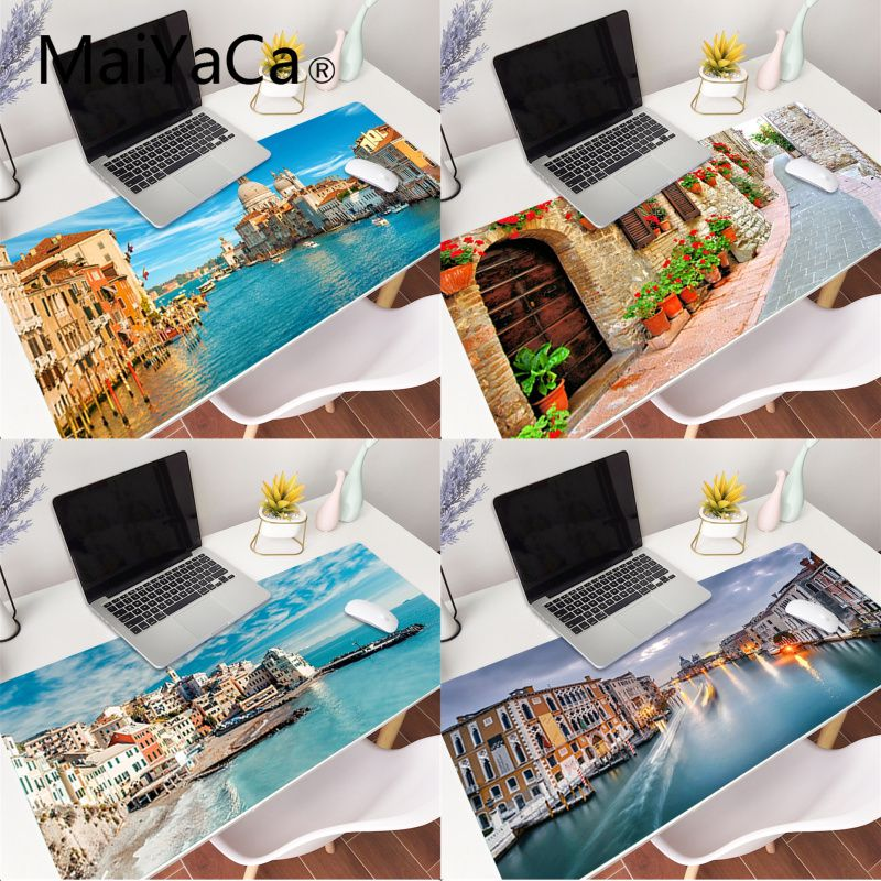 MaiYaCa Your Own Mats Italy Unique Desktop Pad Game Mousepad Gaming Mouse Pad gamer Large Deak Mat 800x300mm for overwatch/cs go