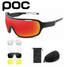 Lunettes de soleil pour hommes et femmes, 5 lentilles, POC, cyclisme, Sport en plein air, équitation, vtt, UV400