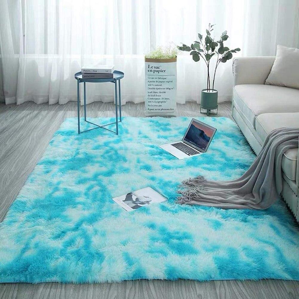 Moderns Abstract Rugs Mat Decor Bedroom Living Room Fluffy Shag Rug Plush Carpet TP899