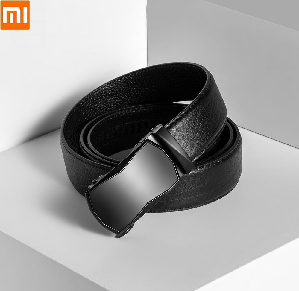Xiaomi  VLLICON Business Casual Leather Belt First Layer Cowhide Geometric Cutting Automatic Buckle Belt High Qulaity For Man
