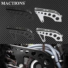 Cubierta de polea delantera de aluminio para motocicleta Harley Sportster XL 883 1200 Roadster 48 72 SuperLow, color negro/cromo
